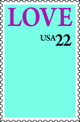 USA 22¢ LOVE Postage Stamp Photo Frame