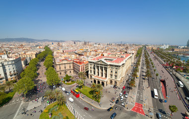 Top view of Barcelona