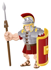 Spoed Fotobehang Ridders Strong Roman Soldier Illustration