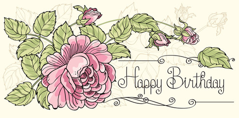 Happy Birthday Postcard 1