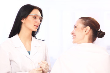 A doctor and a patient