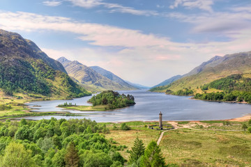 Beautiful landscape of  Loch Shiel, Scotland