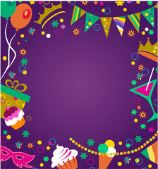 colorful party invitation , vector illustration