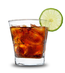 Cola drink, isolated on white background