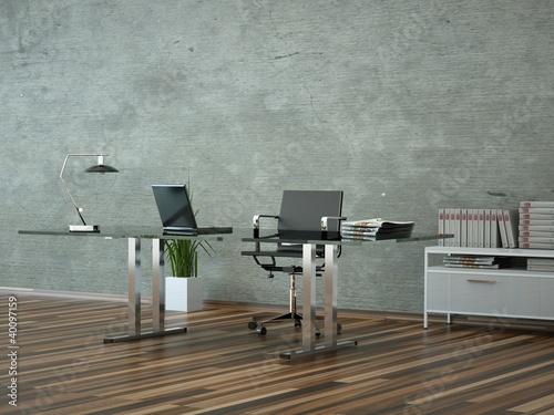 b rodesign schreibtisch vor grauer wand stockfotos und lizenzfreie bilder auf. Black Bedroom Furniture Sets. Home Design Ideas