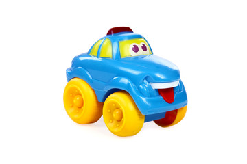 Children's toy the car isolated on a white