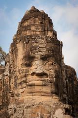 Stone face of Buddha, Angkor Wat, Cambodia