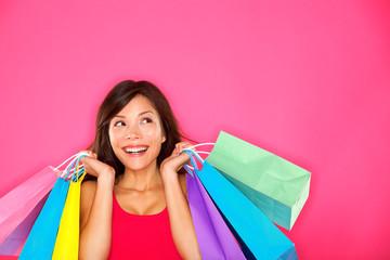 Shopping woman holding shopping bags