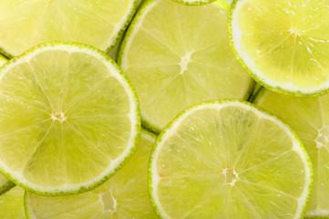 Limette in Scheiben