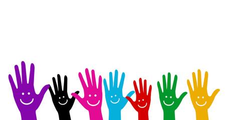 Communauté - Mains - être heureux