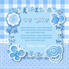 Blue background for boy