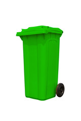 Large green trash can