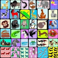 Cartoon animals from A to Z