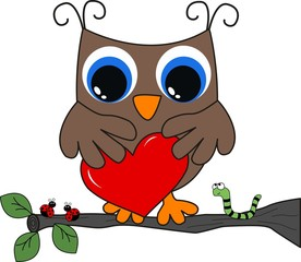 a brown owl with a big heart