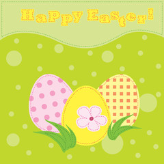Colorful vector easter card