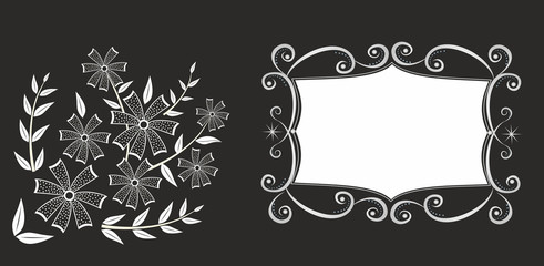 Abstrackt frame with floral pattern