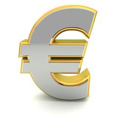 Euro symbol 3d