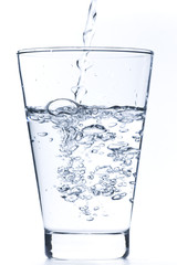 drinking water in a glass