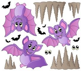 Cartoon bats collection