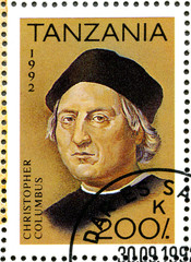 TANZANIA - 1992: shows Christopher Columbus, devoted to 500th an