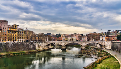 The River Tiber, Rome, Italy
