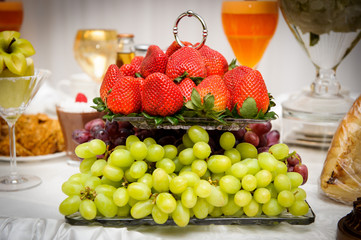 Fruits and berries Wedding table decoration