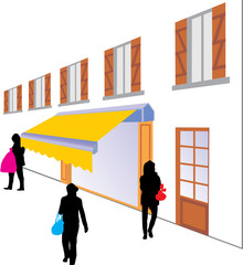 Wall Mural - STORE SHOPPING TWO