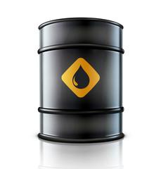 Metal oil barrel