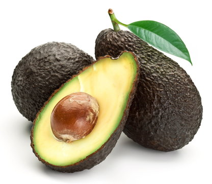 Avocados with leaves