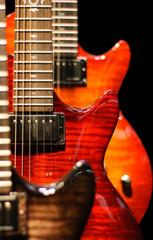 red guitar cutaway
