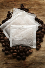 Printed roller blinds Coffee bar Coffee bags Bustine di caffè Café en saquitos
