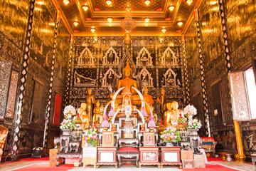 buddha in temple, Samutsongkram province,Thailand