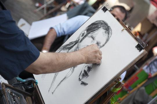 Portraitiste à Montmartre