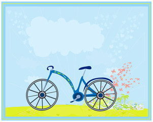 vector bicycle poster