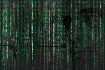 Matrix style background