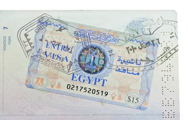 Pasaporte con visado para Egipto