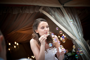 sposa con bolle