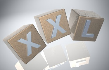 3D Fallende Wuerfel - XXL IX