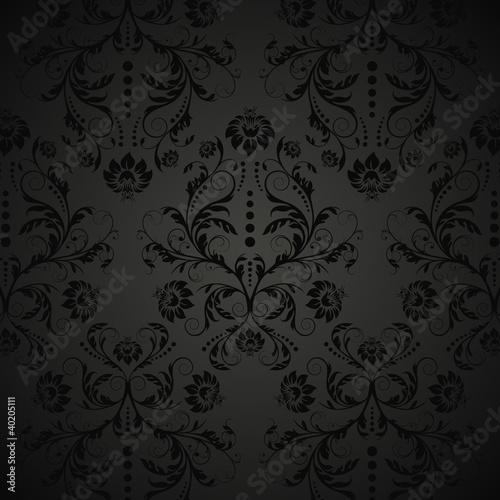 vektor retro tapete mit blumenmuster stockfotos und. Black Bedroom Furniture Sets. Home Design Ideas