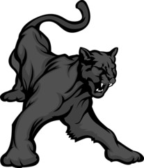 Panther Mascot Body Vector Illustration