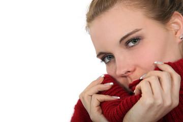 Woman wearing jumper