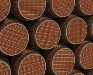wooden barrels background