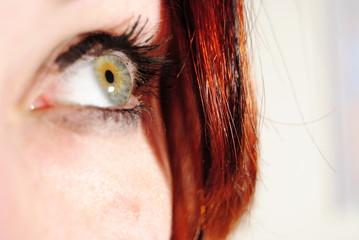 green eye of  a girl