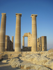 Ruins of ancient acropolis temple