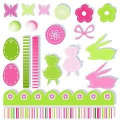 easter scrapbook elements