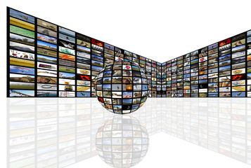 Media Room in perspective with globe