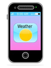 Weather button on smartphone