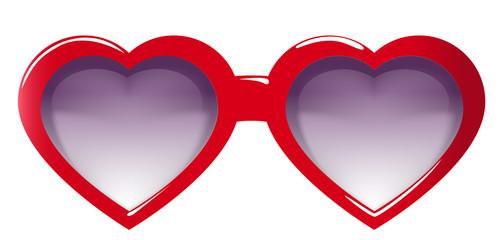 lunette face coeur