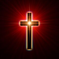 Fototapete - glowing cross