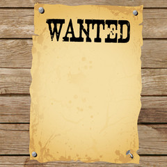 Plakat - WANTED